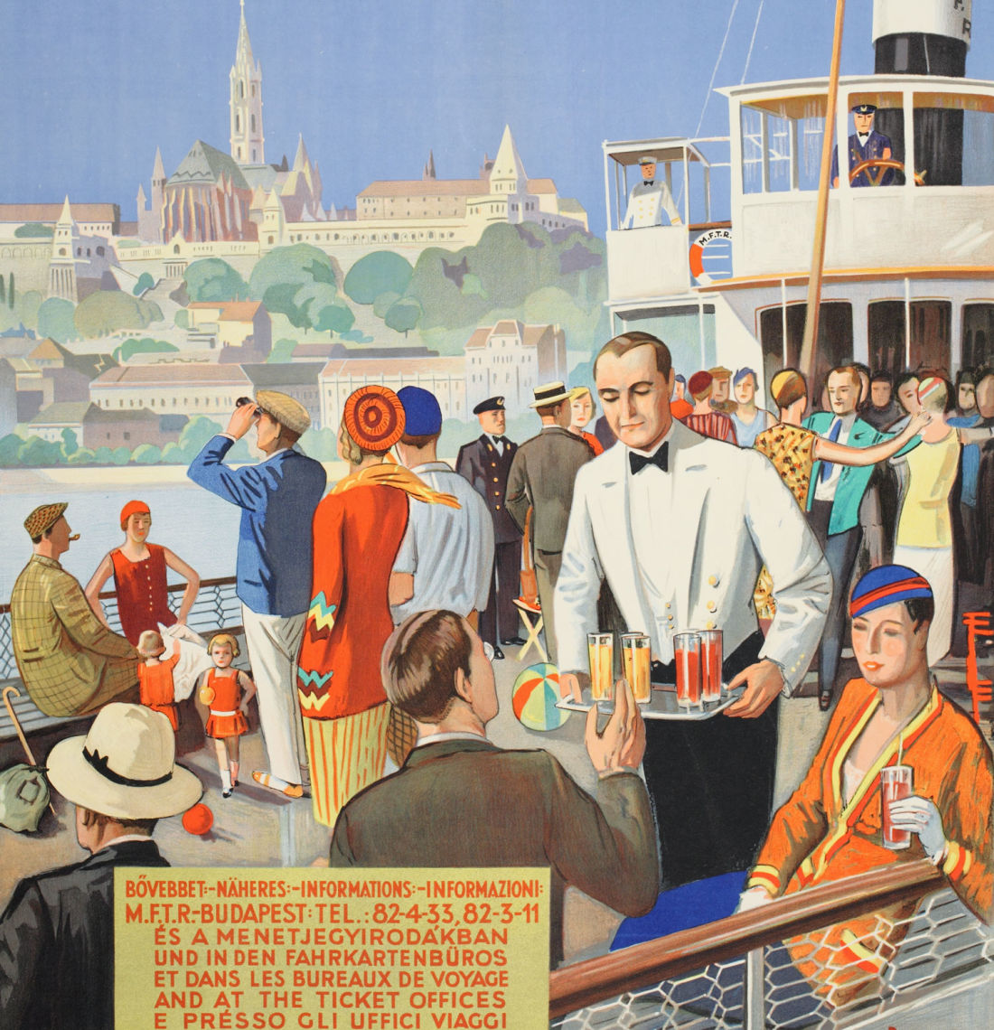 Poster of people enjoying a boat cruise on Danube