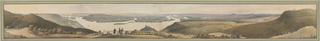 View of Danube from the Leopoldsberg