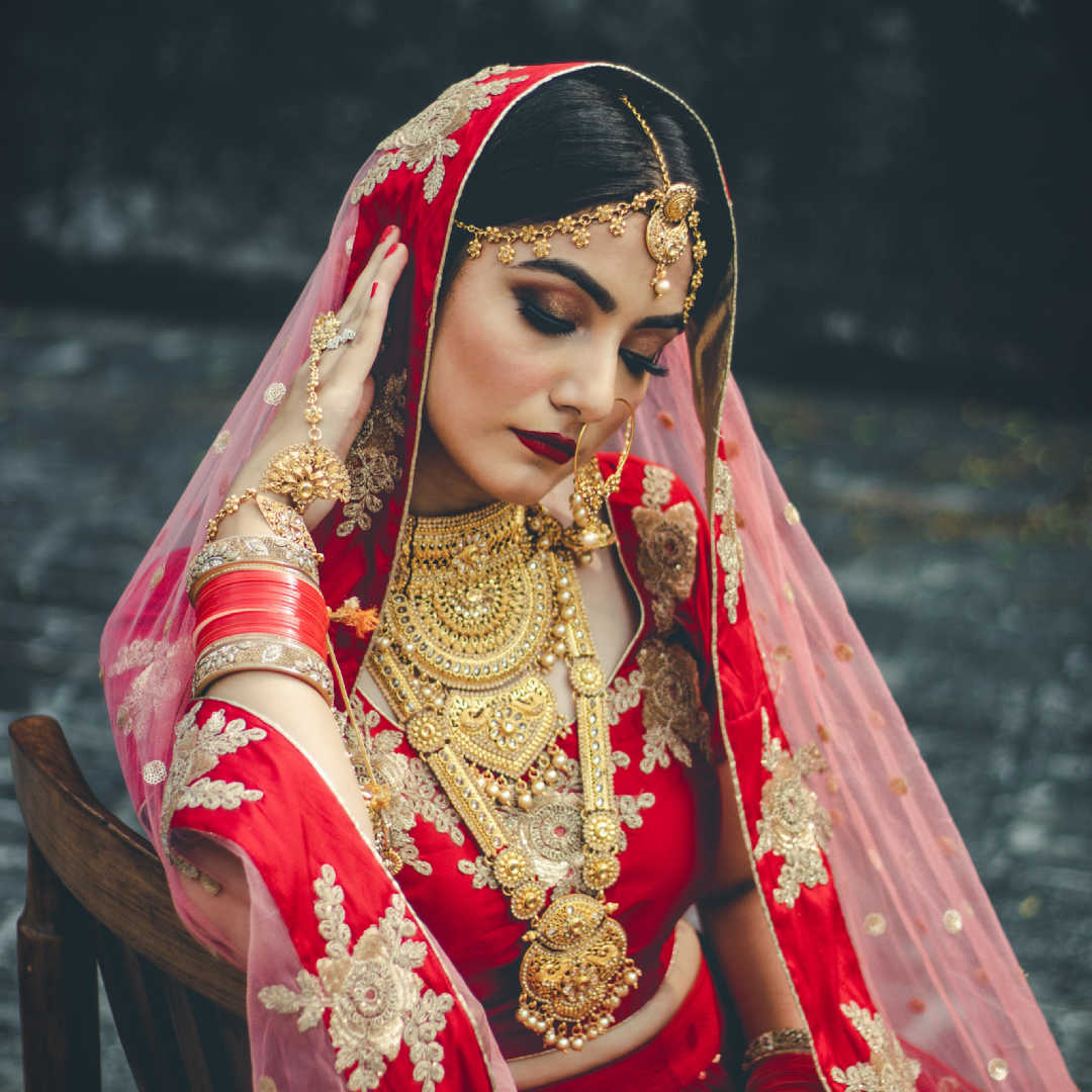 Woman in dupatta