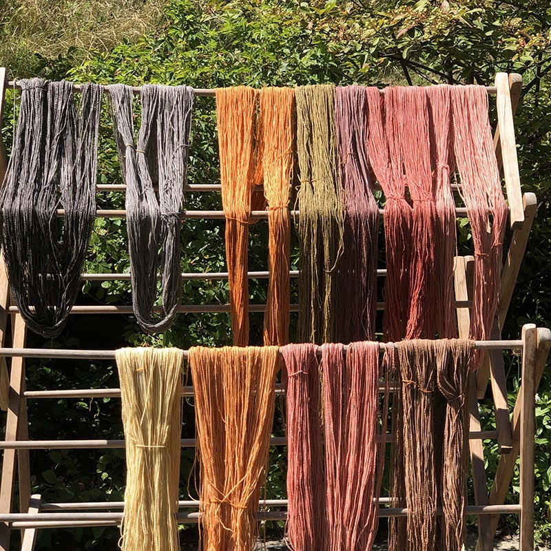 Hill Skeins Drying