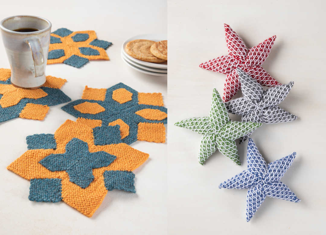Scandinavian Stardust Doilies by Edith van Tassell and Star Light, Star Bright by Deborah Bagley