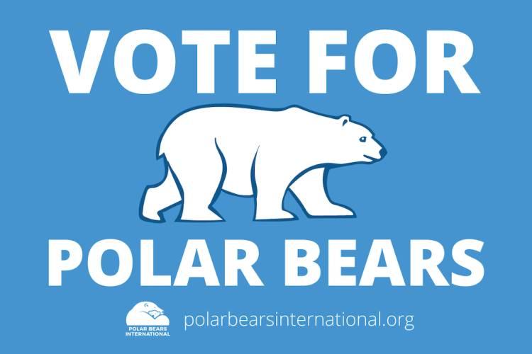 Vote For Polar Bears sign