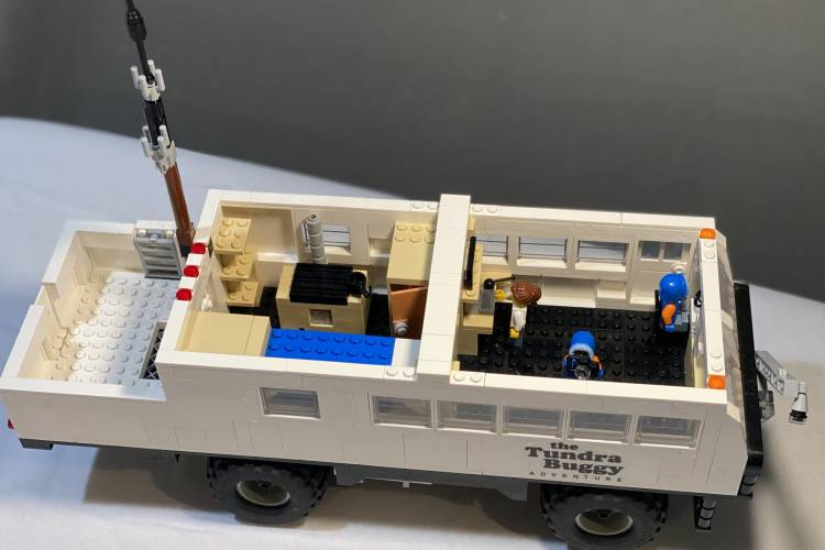 Inside view of LEGO Tundra Buggy One