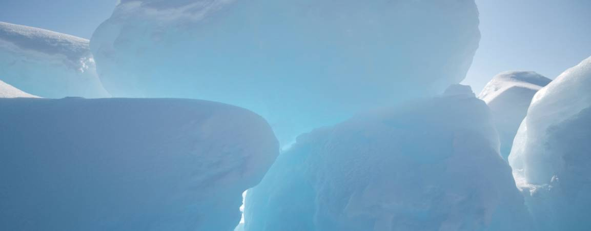 A cluster of glaciers