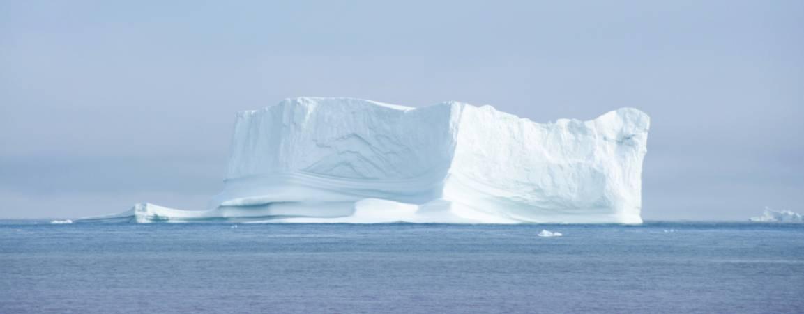 Floating glacier