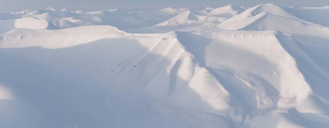 Mountains on Svalbard, Norway