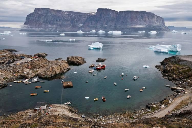 Arctic town landscape