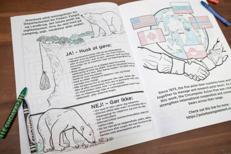 Interior of Danish coloring book