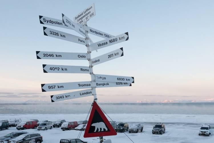 A sign in Longyearbyen, Svalbard