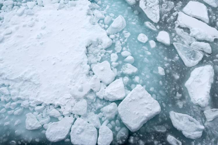 Ariel view of the sea ice