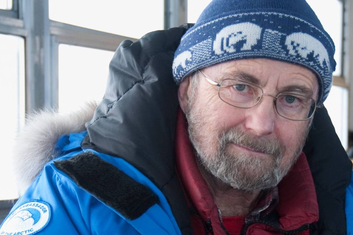 Portrait of Dr. Ian Stirling on a Tundra Buggy