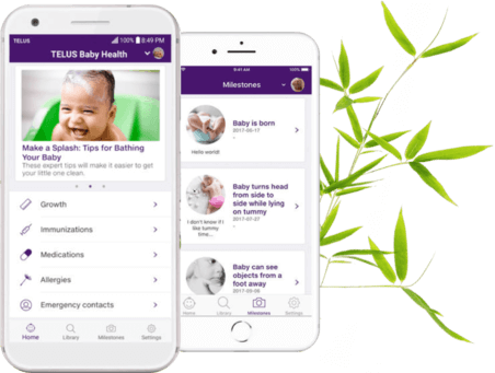 Preview of the baby health app