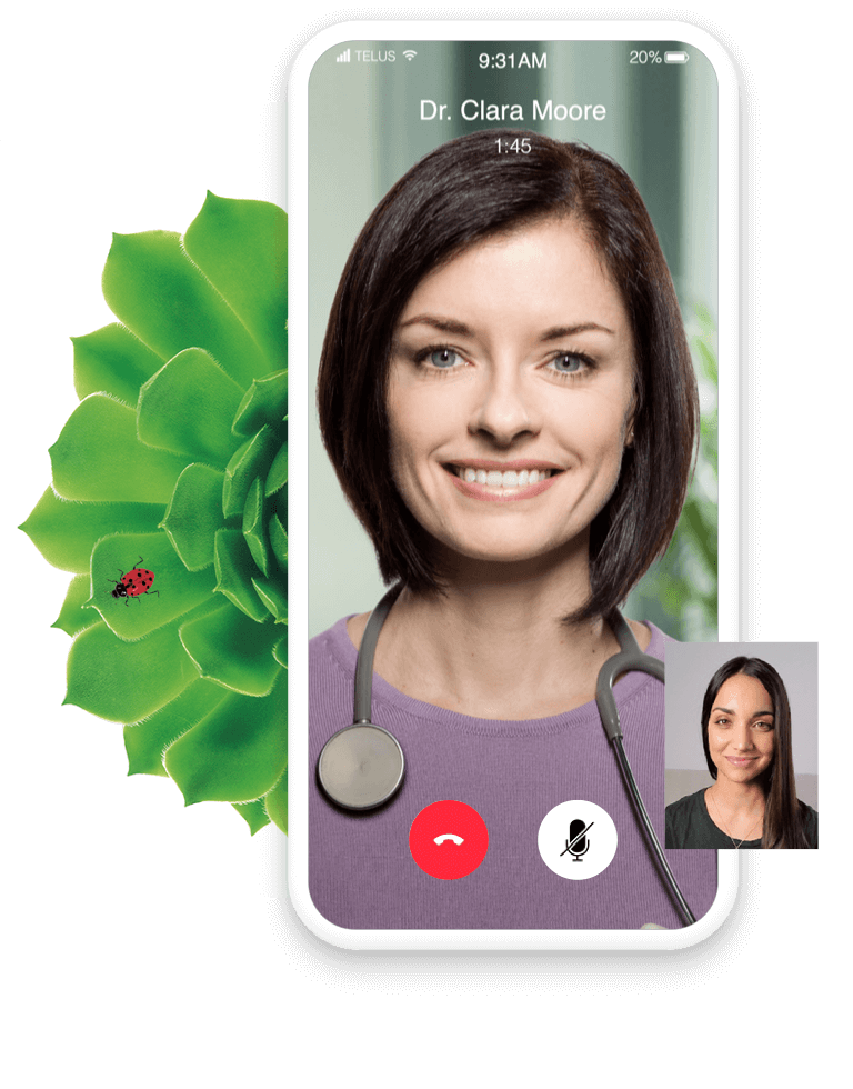 Doctor consulting a patient via a video call