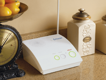 Base station device on a countertop