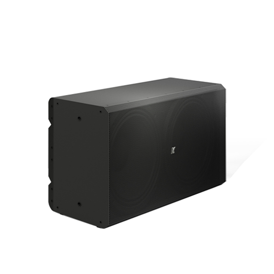 "K-array Rumble-KU212 high power passive subwoofer with 2 x 12"" drivers – black"