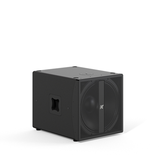 "K-array Thunder-KMT18P high-performance passive 18"" subwoofer with powerful peak output in the low frequency range - front 3/4"