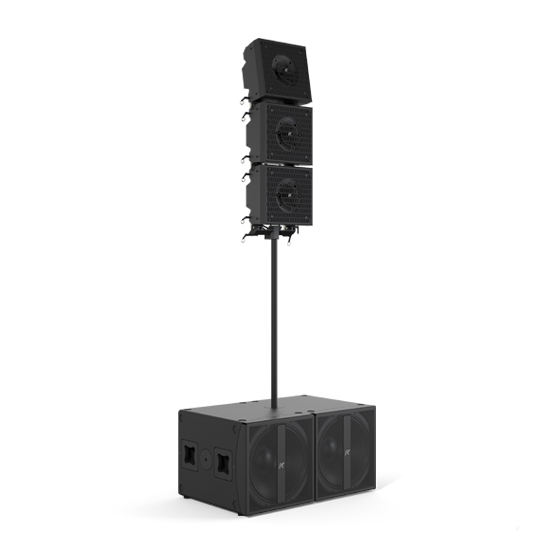 K-array Axle-KRX802 large format portable system composed of three Dragon-KX12 12