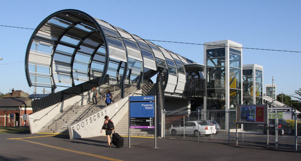 Footscray station footbridge most affordable suburbs in melbourne