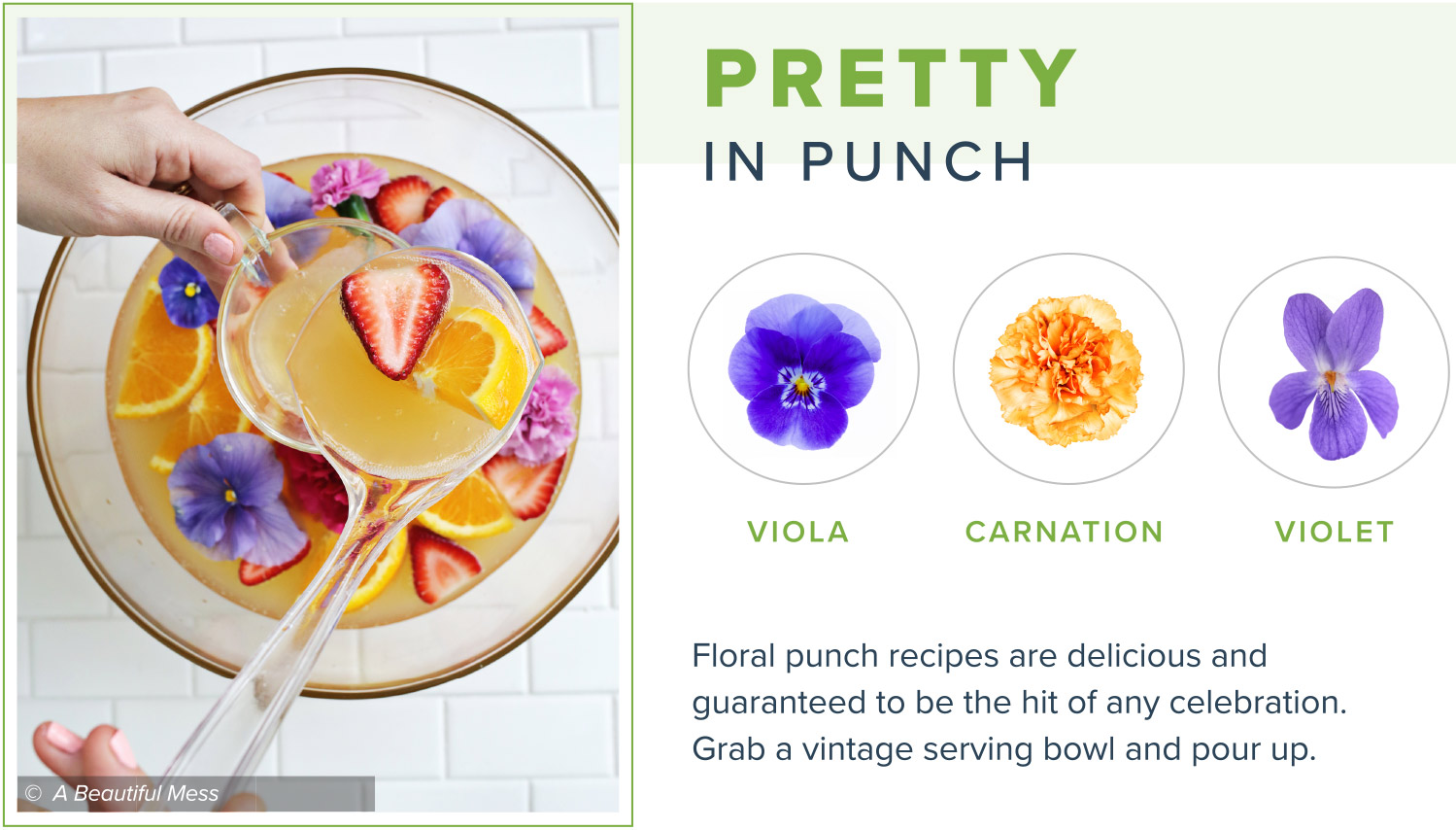 edible flowers pretty in punch