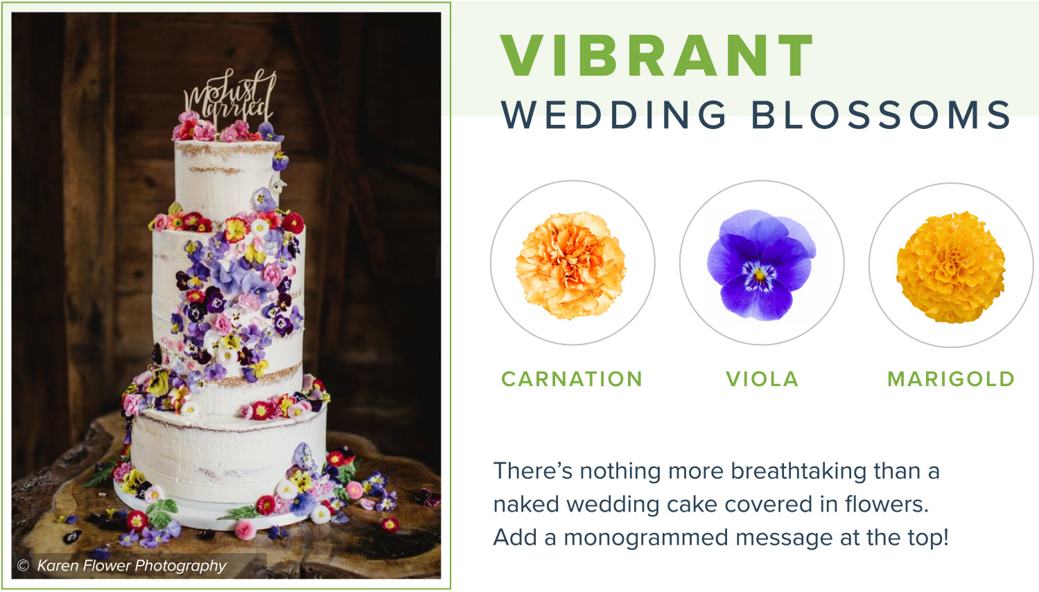 edible flowers vibrant wedding blossom