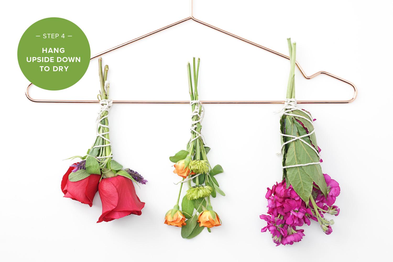 hang flower and herb bundles upside down on hanger how to make incense