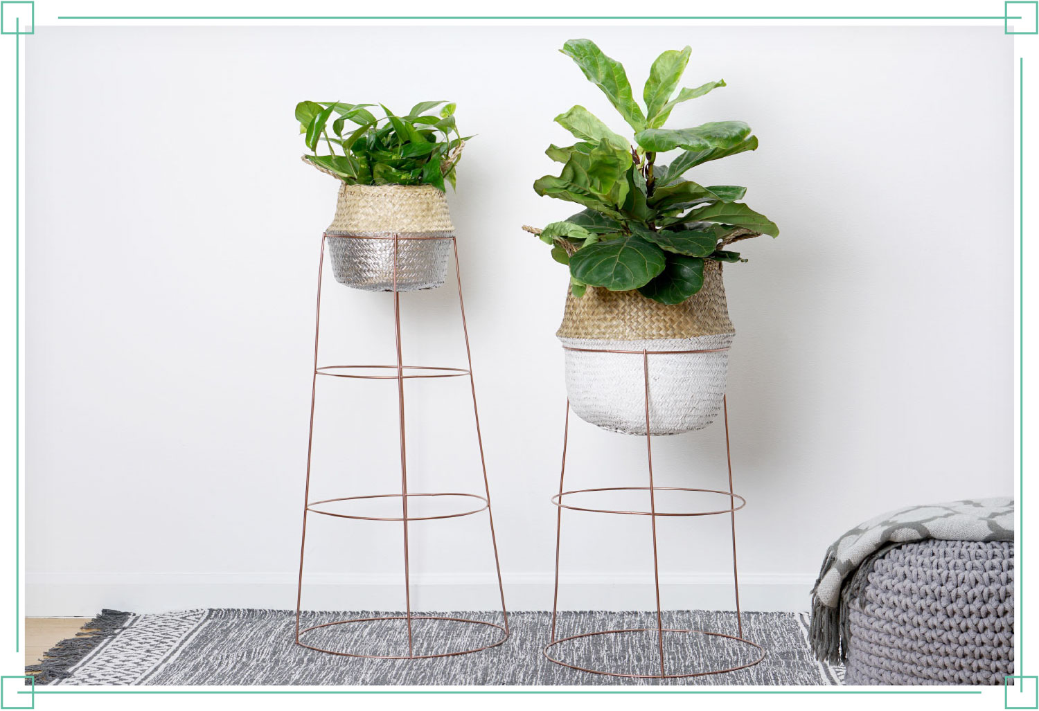 diy plant stand hardware hacks tomato cage plant stand with grey carpeting below