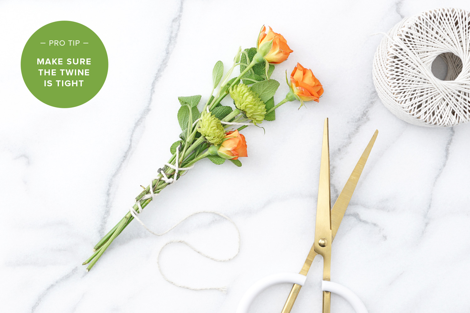 tie cotton twine tight around roses and poms how to make incense