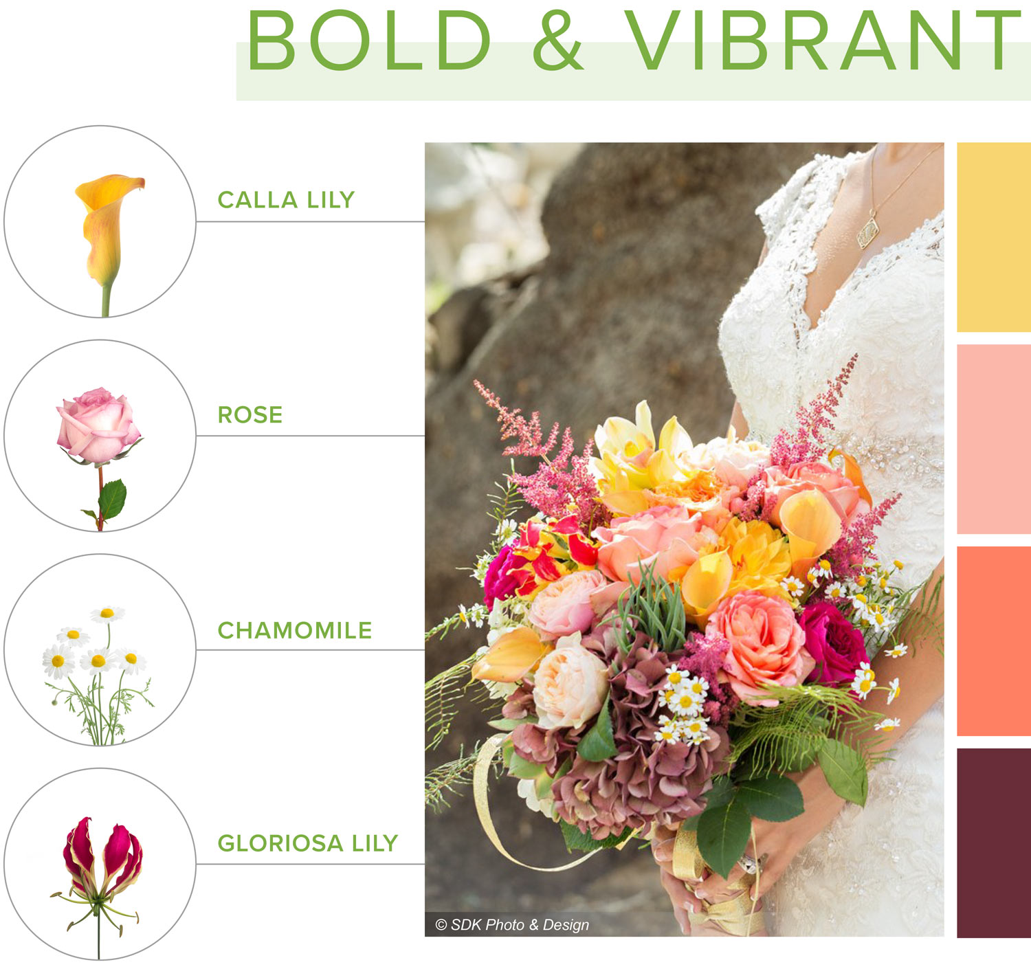 bold and vibrant bouquet