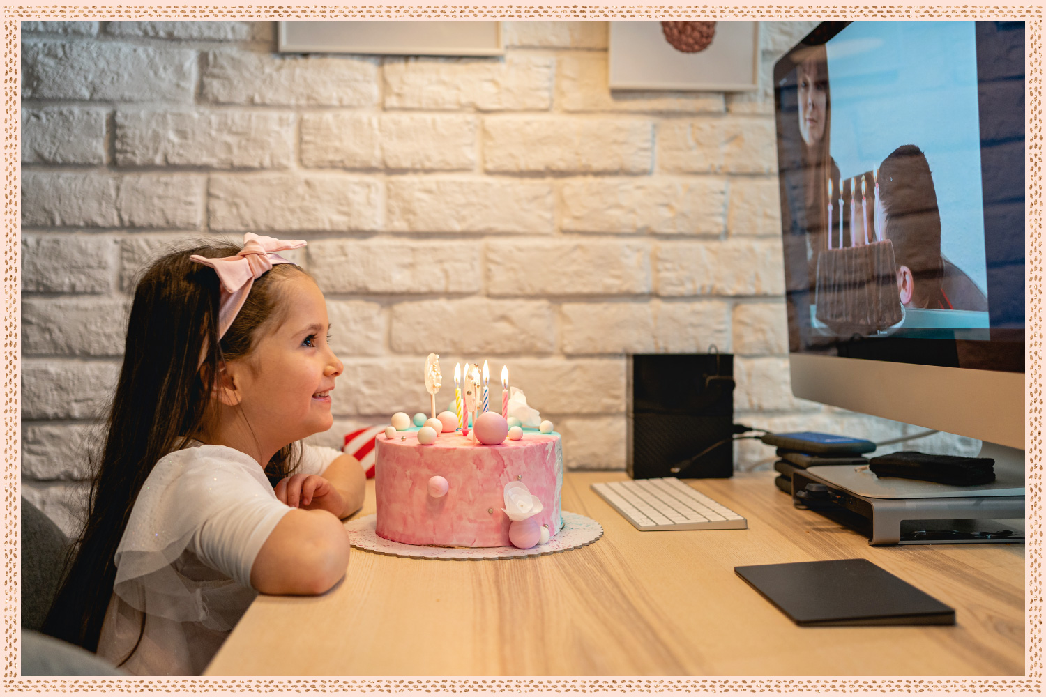 virtual birthday party for little girl