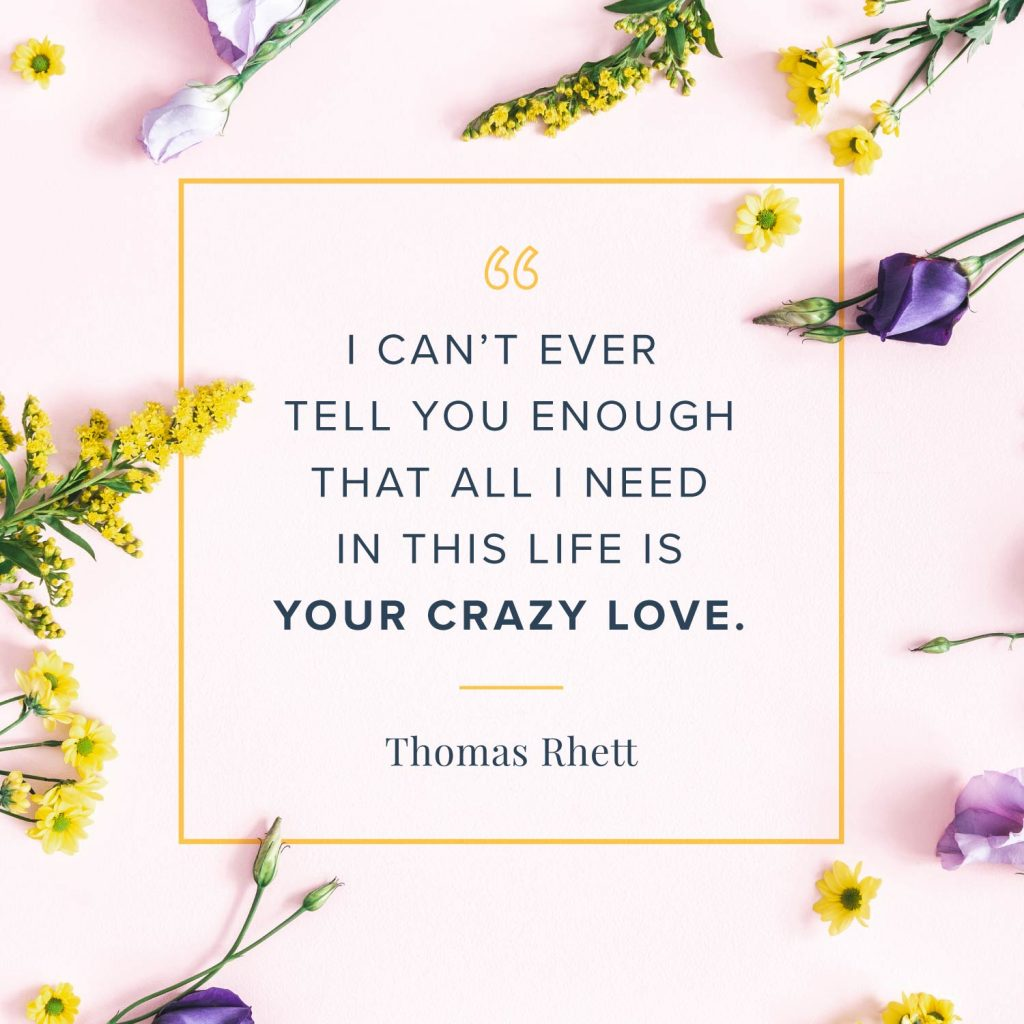 All I need in this life is your crazy love