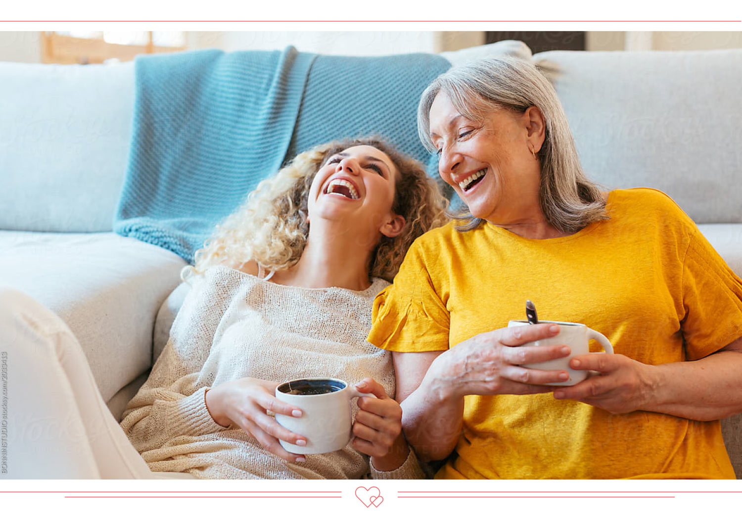 mother daughter quotes mom and daughter laughing together on a couch