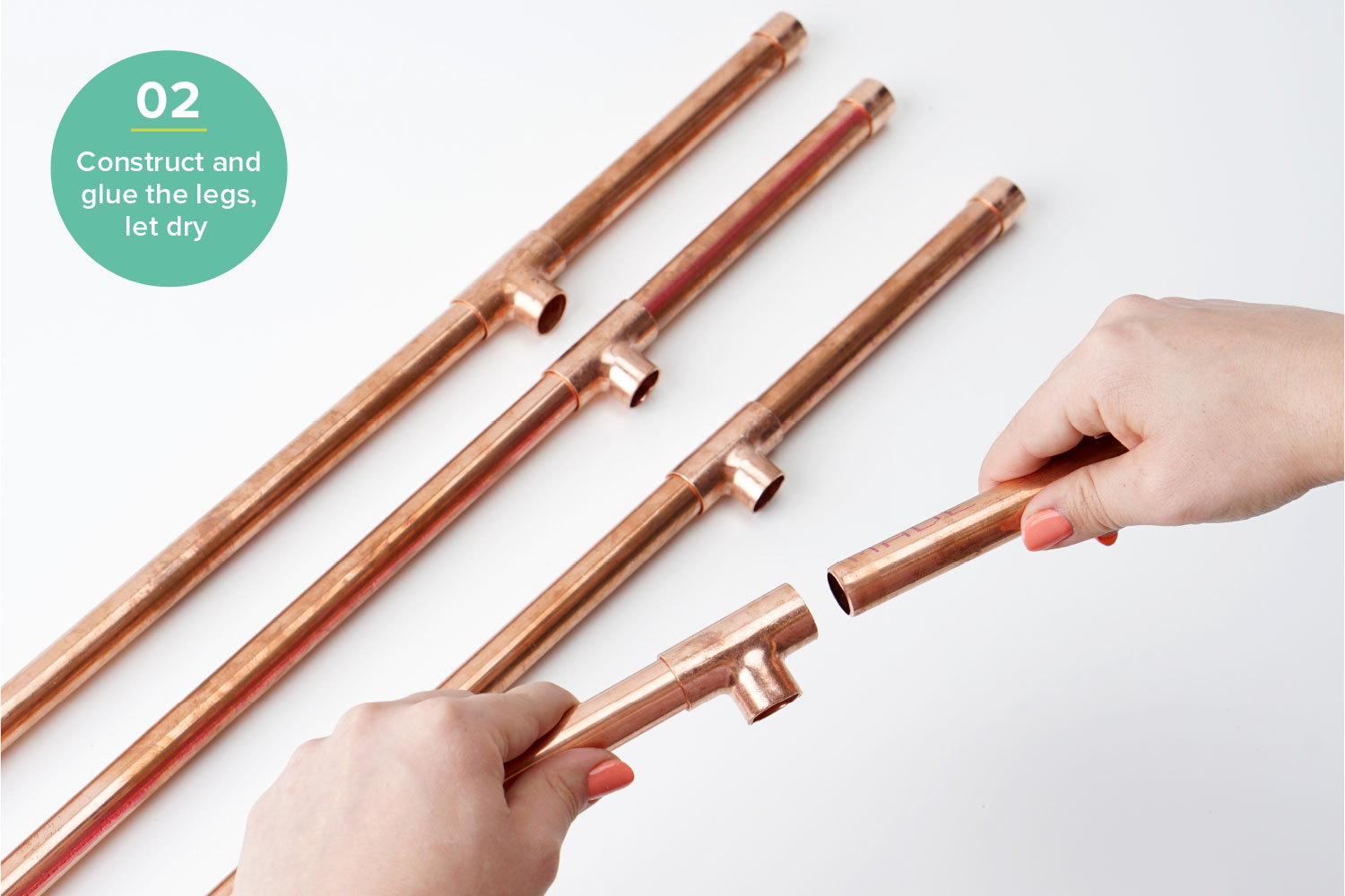 diy plant stand hardware hacks step 2 copper pipe