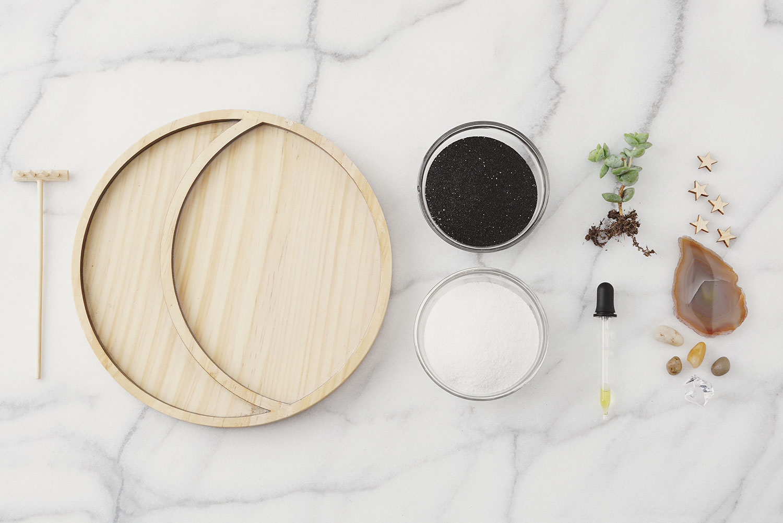mini zen garden materials