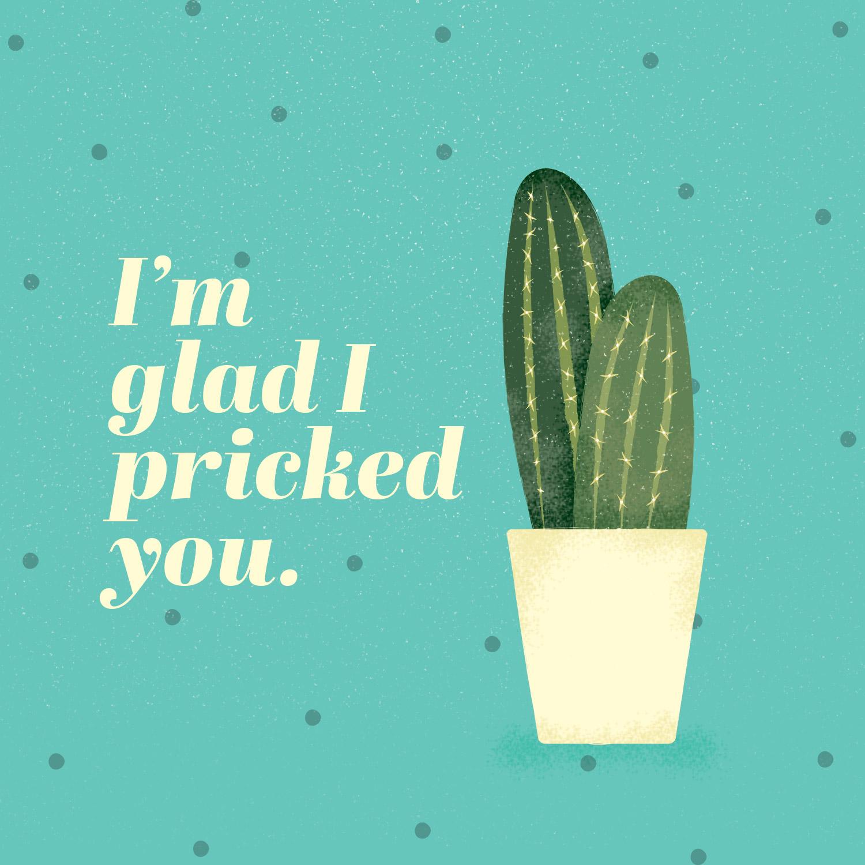 cactus puns im glad i pricked you