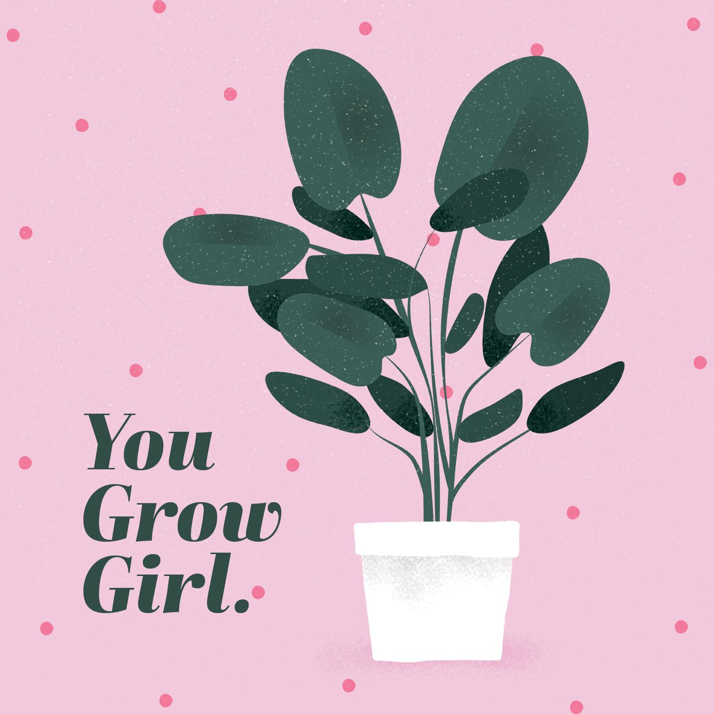plant pun you grow girl