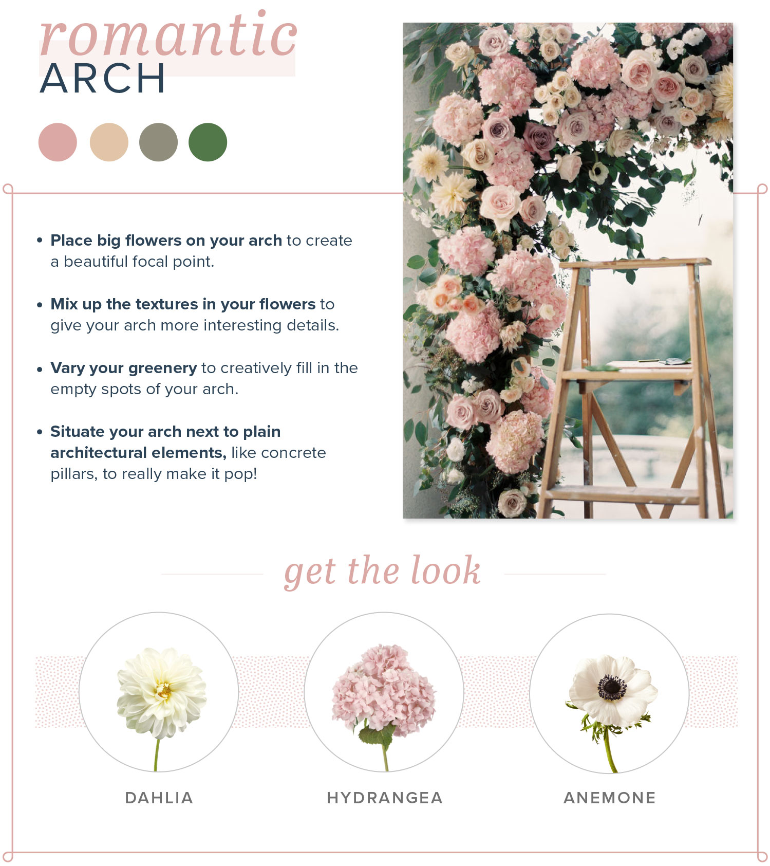 classic wedding arch romantic