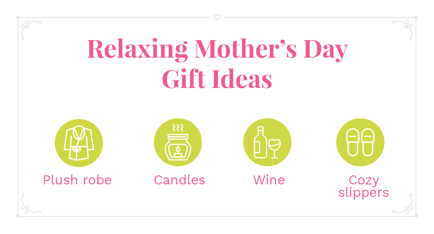 Relaxing Mother's Day Gift Ideas Infographic