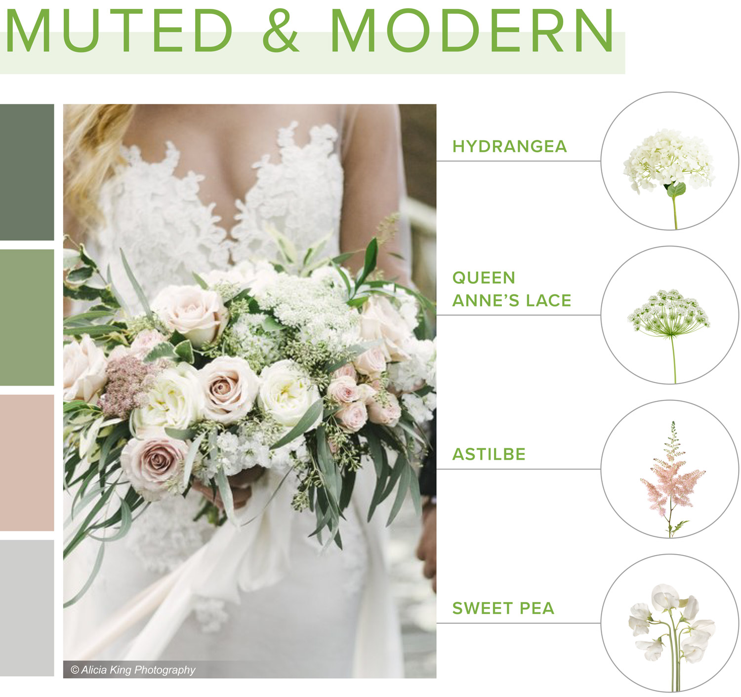 muted and modern bouquet