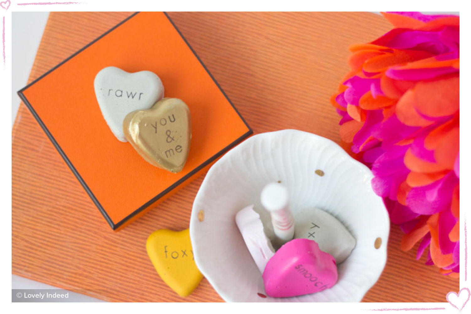 how to surprise your boyfriend painted heart diy