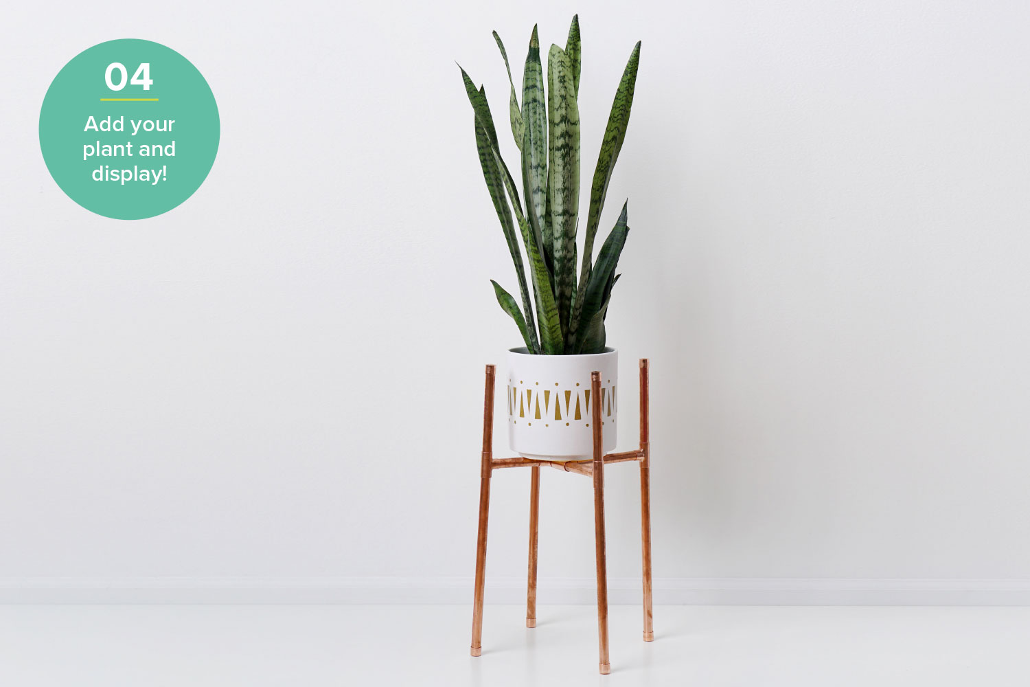 diy plant stand hardware hacks step 4 copper pipe