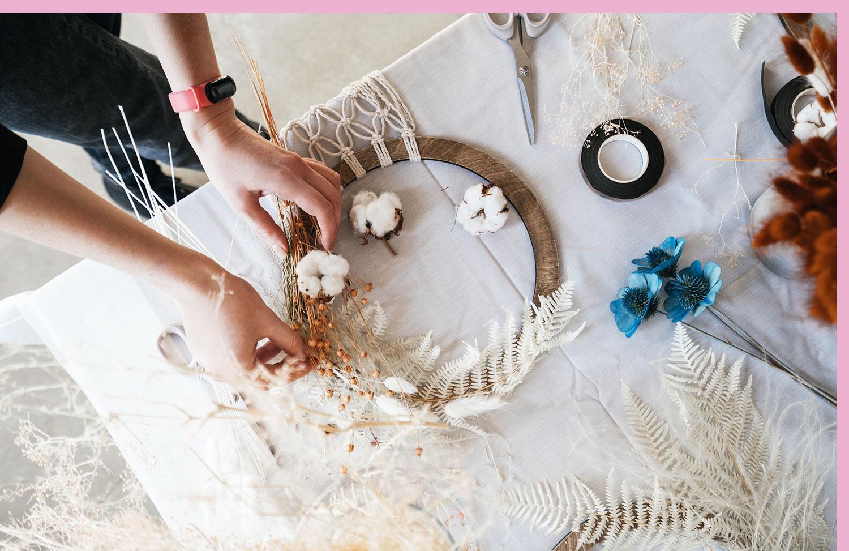 flower macrame craft