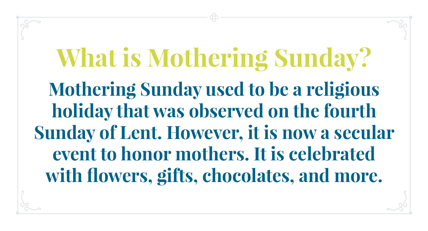 Mothering Sunday infographic