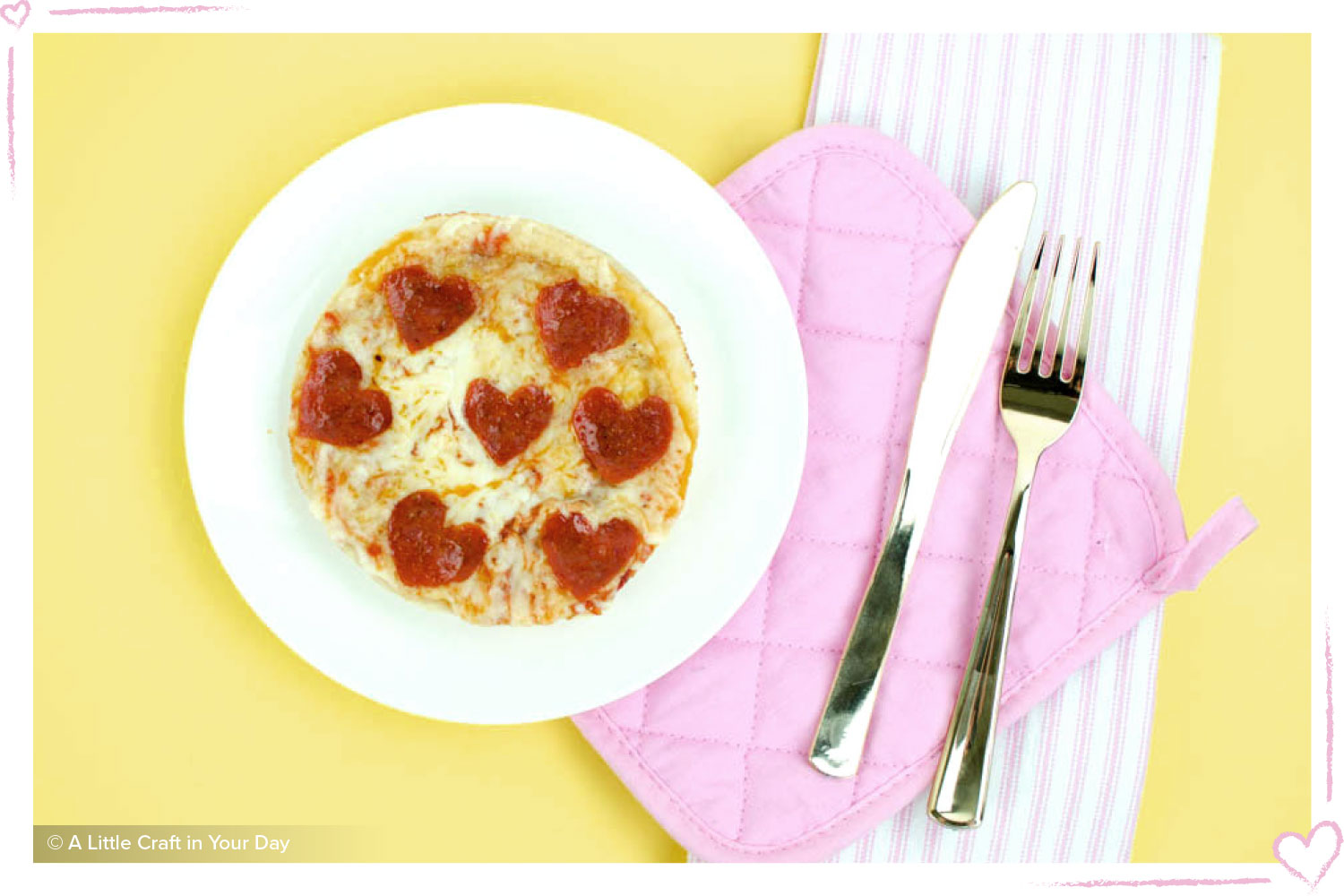 how to surprise your boyfriend pizza with pepperoni hearts