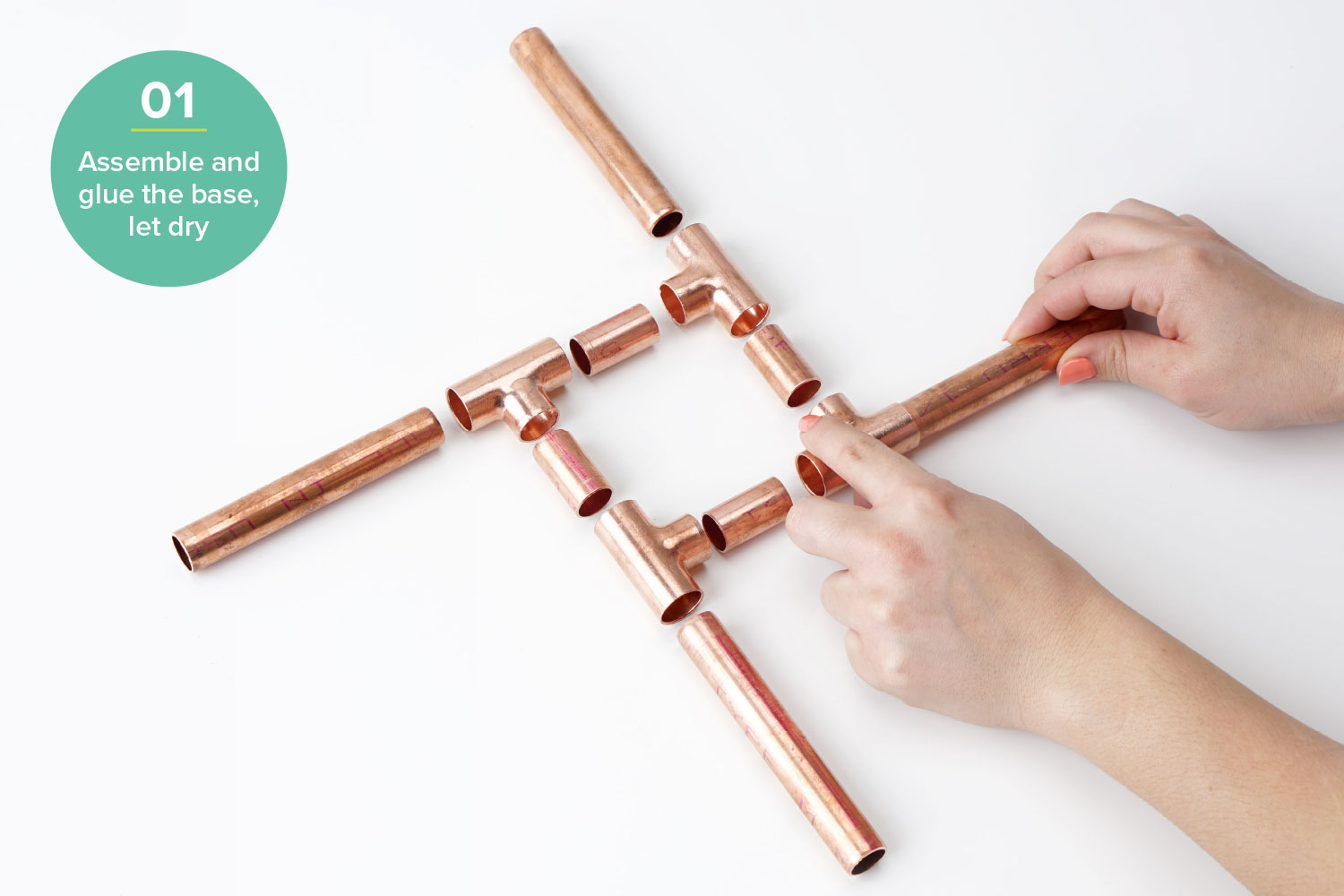 diy plant stand hardware hacks step one copper pipe stand