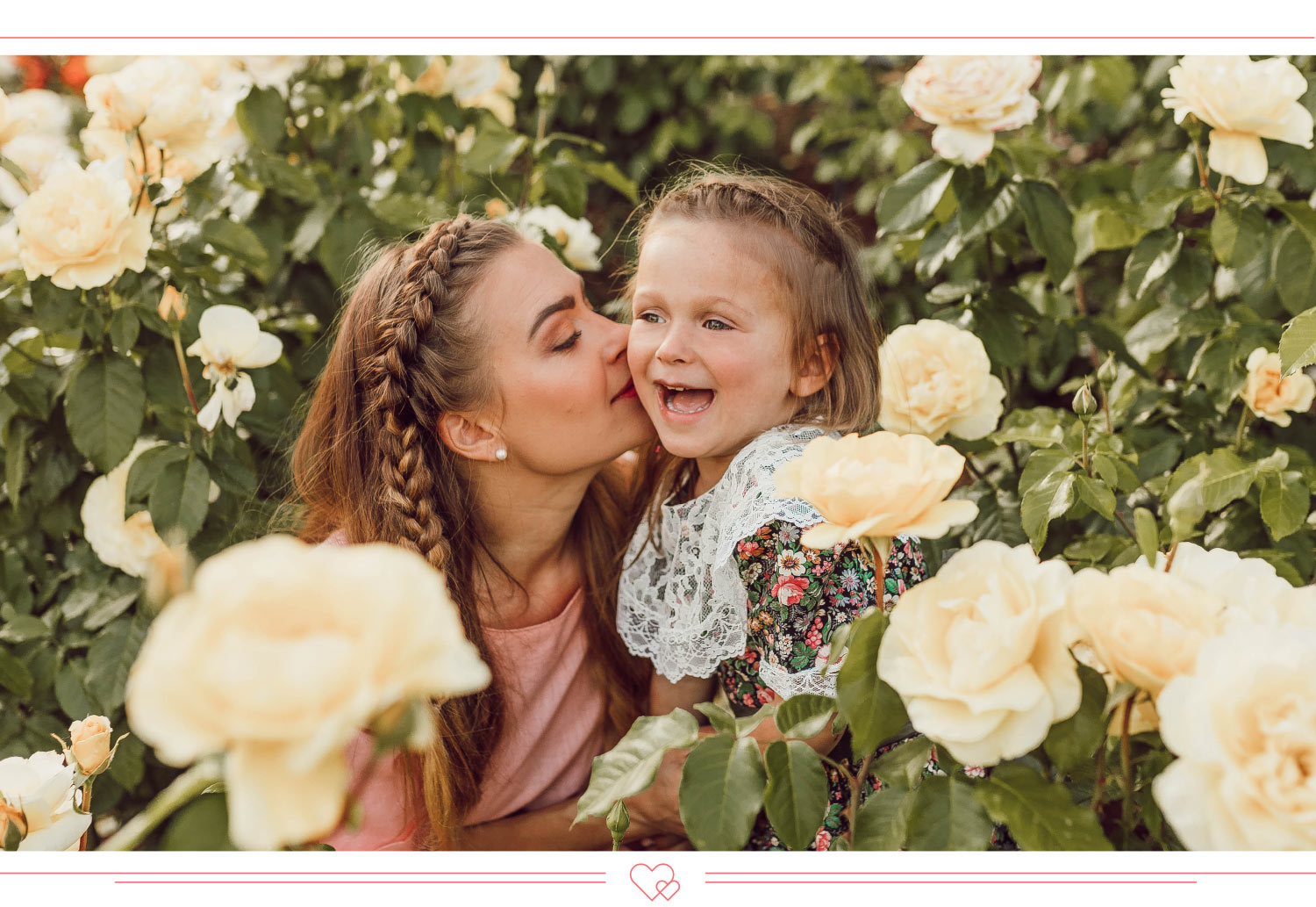 mother daughter quotes mom and daughter surrounded by roses