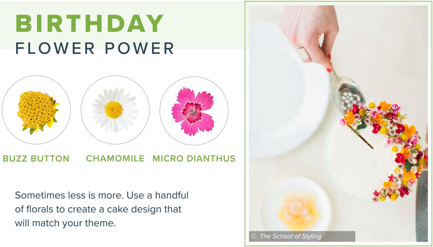 edible flowers birthday flower power