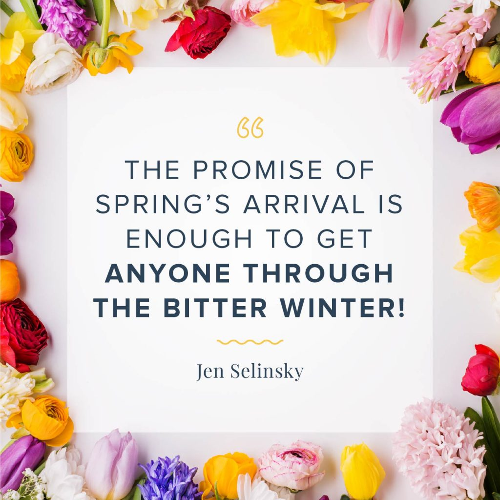 the promise of spring's arrival quote