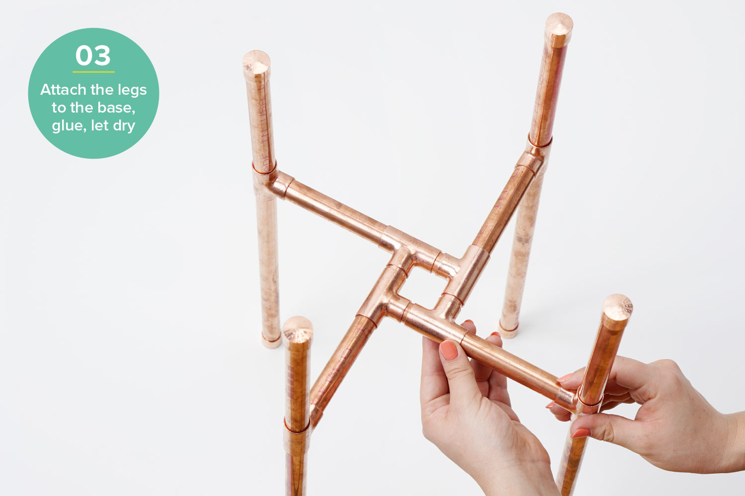 diy plant stand hardware hacks step 3 copper pipe
