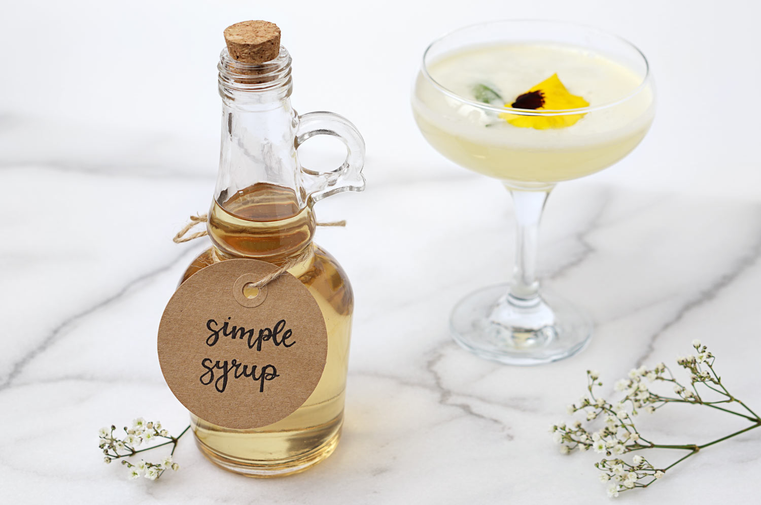 simple syrup bottle