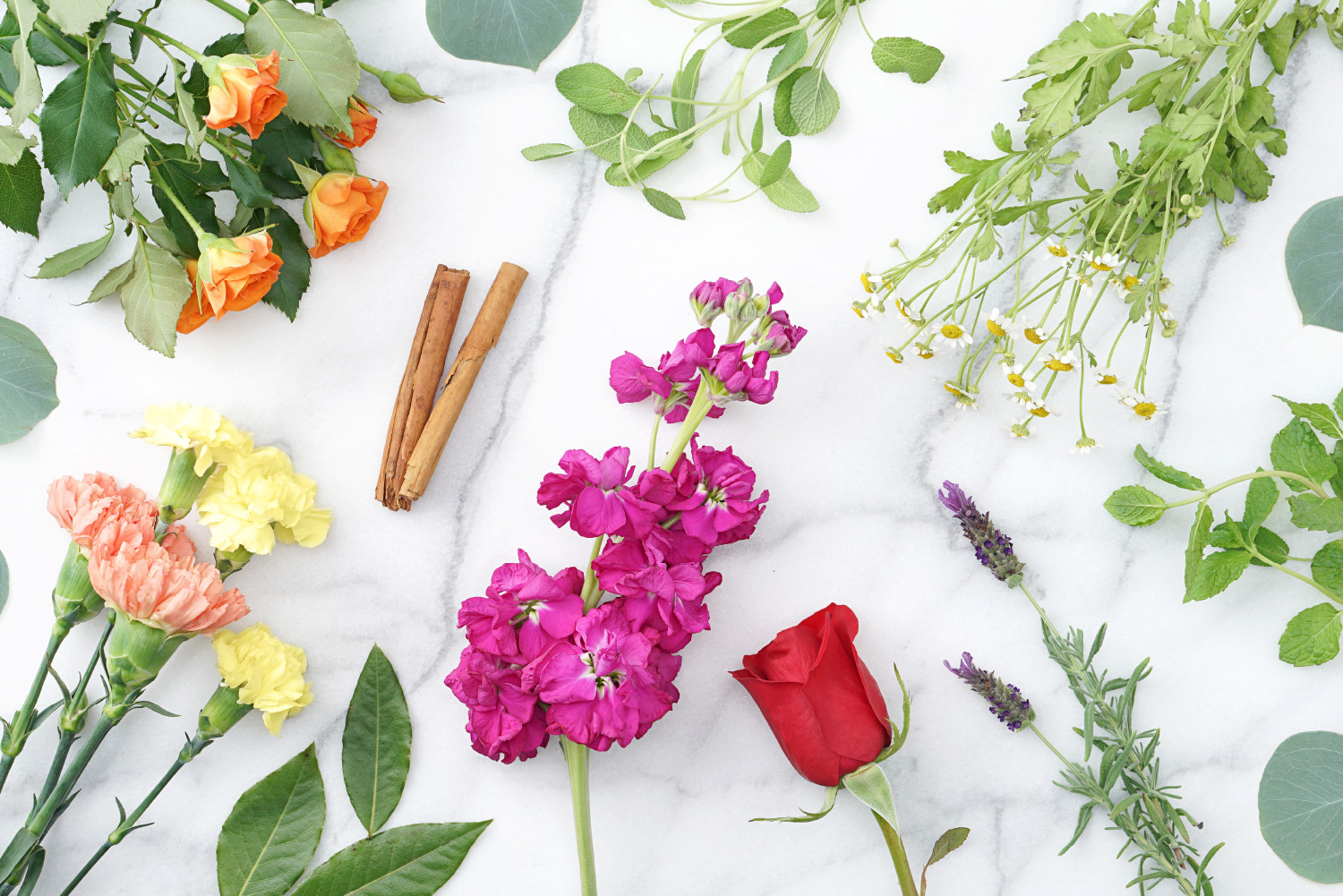 herbs and flowers for how to make incense